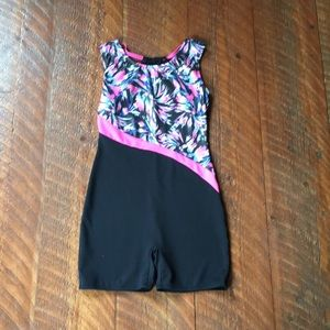 Other - A size 10/12 pink purple blue and black leotard.